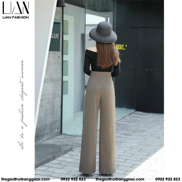 quần tây nữ ống rộng cao cấp