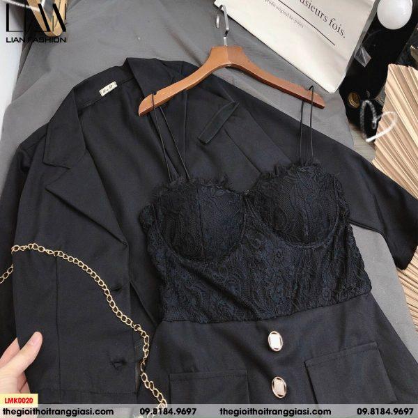 sét vest kèm áo bra ren
